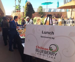 2017 bhbs chilean blueberry council lunch sponsorship sign